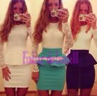 2015 HotWomen Bandage Bodycon Long Sleeve Evening Sexy Party Cocktail Mini Dress