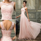 2015 Celebrity BEADED APPLIQUE Long Evening Bridesmaid Prom Party Gowns Dresses