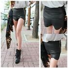 Fashion New Women Faux Leather Shorts High Waist Slim Casual Punk Rock Pants