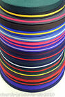 2 ,5 ,10, 25 , metres of Polyester Air Webbing In 20 Various Colours 25mm   Soft