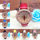 Christmas Tree Leather Watch Women Rhinestone Quartz Ladies WristWatch Hottest