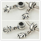 925 Solid Sterling Silver Boy Girl Family Dangle European Charm Bead Bracelet