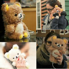 3D Teddy Bear Doll Toy Cool Plush Cute Case Cover For Apple Samsung Mobile Phone