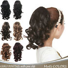 "OneDor 12"" Wavy Hair Synthetic Jaw Claw Clip Ponytail Hair Extensions"