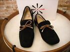 Isaac Mizrahi Billee Black Suede Bow Driving Moccasin NEW