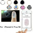 Aluminium Fingerprint Support Touch ID Home Button Sticker Fr iPhone 5S 6 Plus