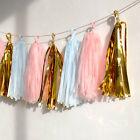 Shiny / Tissue Paper Mylar Fringe Tassel Garland Party Decoration Wedding Shower
