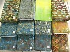 Fresh new BATIKS 100% cotton fabric flavor of India earth & neutrals 1 yd x 44""
