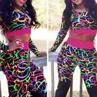 Woman HOT! Lady Sexy Jumpsuit Bodycon Bright Multicolor Floral Printed New