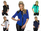 New Ladies Womens Chiffon Shirt Long Sleeve Blouse Casual Tops