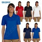 Gildan Women's Welt Knit Collar Ringspun Pique Short Sleeve Polo Shirt G380L