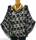 Women's Lace and Cotton Poncho UK Sizes 8-20-SIMON CharlesElie94