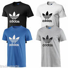adidas ORIGINALS MENS SIZE S M L XL CREW NECK COTTON MULTI LISTING TREFOIL BNWT