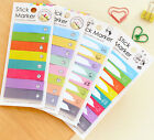 Colorful Adhesive Sticky Notes Memo Pad Label UK Kids Party Index Office