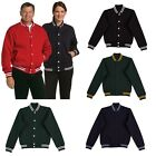 UNISEX MENS WOMENS ADULTS COTTON VARSITY CASUAL WORK TEAM SPORTS WINTER JACKET