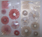 """U CHOOSE  Papermania OYSTER BLUSH  WILD ROSE buttons 3D Stickers 4-1/2""""X6"""""""