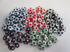FOOTBALL SOCCER SHAPED NOVELTY BUTTONS SIZE 24 15mm ASSORTED COLOURS TO CHOOSE