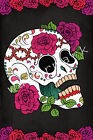 Unique Dia de Los Muertos, Sugar Skull Mexican Art Print. Day of the Dead Poster