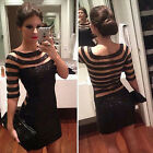 BLACK New Stock PLUS SIZE S-XL Lady NEW Party Cocktail Evening Prom Short Dress