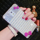 Luxury Bling Pearl Diamond Rhinestone Bowknot Hard Case Cover For Samsung Galaxy