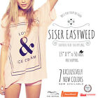 """Siser Easyweed IRON-ON Heat Transfer Vinyl 15"""" x 9"""", 12"""", 1,3,5,10,25 and 50 Yd"""