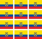 12 Ecuador flags vinyl stickers football baseball hockey soccer helmet car sport