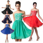 2015 BEADED Evening Party Formal Homecoming Prom Gown Bridesmaids Short Dresses