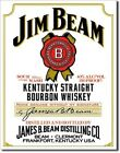 Jim Beam White Label metal sign de