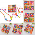 1Box Wooden Beads Kit Jewelry Necklace Bracelet Kids Bubblegum DIY Craft Set