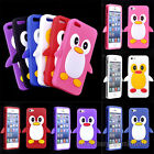 3D Funny Penguin Soft Silicon Rubber Gel Back Case Cover for Apple iPhone 5 5S