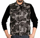 Miskeen Originals Men's100% Cotton Camouflage Heavy Twill Vest