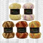 1/2 PRICE - CREATIVE YARNS RAINBOW MULTI CHUNKY KNITTING YARN - VARIOUS SHADES