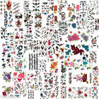Temporary Tattoo Stickers Scorpion Animal Dragon Tribal Butterfly Rose Skeleton