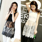 2015 Summer Women Lace Stitching Blouse Dress Sexy Casual Strap Vest Mini Dress