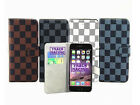 sale for iphone 4s - New Luxury Grid Magnet Card Flip PU Leather Wallet Stand Cell Phone Case Cover