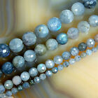 """Faceted Natural Labradorite Round Beads 15.5"""" 4 6 8 10 12mm Pick Size"""