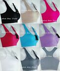 Sports Bra Fitness Tank top Stretch Seamless Racerback Spandex #5512 One Size
