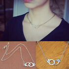 Fashion Women Retro Bronze Silver Handcuff Pendant Metal Chain Necklace New Hot