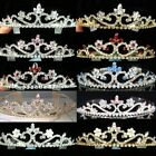 SALE Bridesmaid Prom Blue Lt Pink Red Silver / Gold Plated Tiara Xmas T039LP