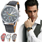 New Men's Luxury Fashion Crocodile Faux Leather Analog Watch Watches Trendy