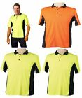 MENS TRUEDRY SAFETY POLO WORK WEAR FLURO HIGH VISIBILITY HI VIS T-SHIRT TEE TOP
