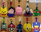 WINNIE POPEYE MARIO THOMAS CARTOON KIDS Travel Luggage Tag School Bag Silicone