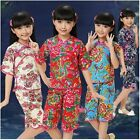 Children's Day Gift! Lovely Chinese Traditionary Girl's Suits Sets For Kids 2-14