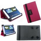 "Magenta Flip Leather Wallet Folio Case Stand Cover for 9"" 10"" 10.1"" Tablet"
