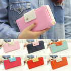 Classic Cute Women's Button Faux Leather Clutch Wallet Lady Purse Long Handbag