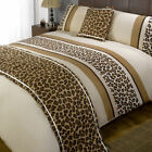 Leopard Print Chocolate Black Patterned Bed in a  Bag Duvet Quilt Cover Beddi...