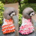 Pet Doggy Love Heart Lace Dress Puppy Multi-layer Tutu Skirt Clothes 7 Color A73
