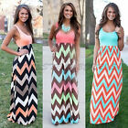2015 Summer Boho Long Maxi Party Sleeveless Dress Seaside Beach Dress Sundress