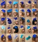 CLASSY FASCINATOR IN BLUE, CHEAPEST ON EBAY, WEDDING, RACES, ASCOT OCCASIONS LOT
