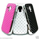 DIAMANTE BLING GLITTER BACK CASE COVER SKIN FOR SAMSUNG Galaxy Trend Plus S7580